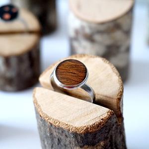 Bague bois de marqueterie