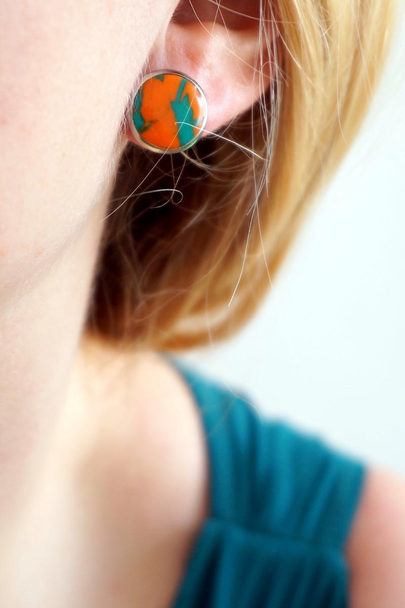 Bo cercle orange vert