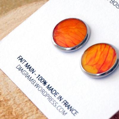 Bo cercle peinture orange
