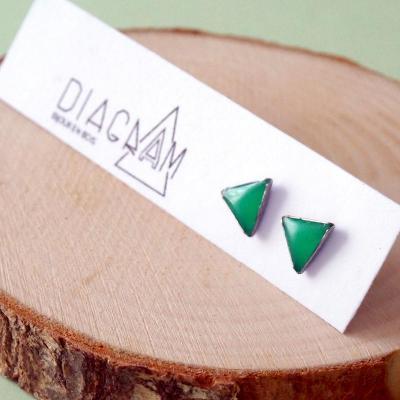 Bo clou mini triangles vert