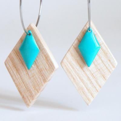 Bo e mail losange turquoise2