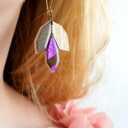 Bo fleurs violet