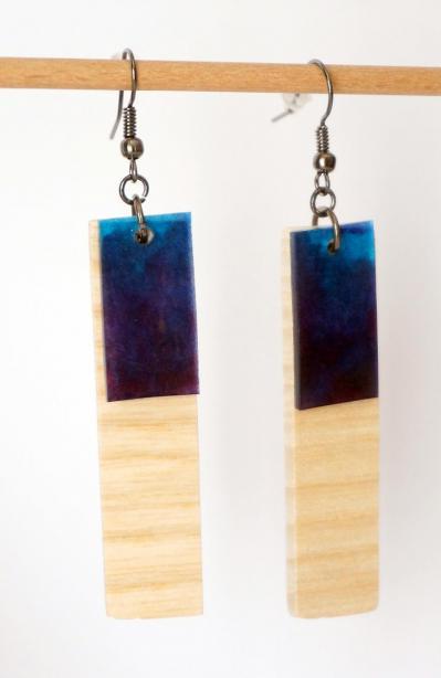 Bo ge o rectangle bleu violet