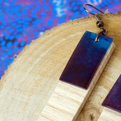 Bo ge o rectangle violet bleu