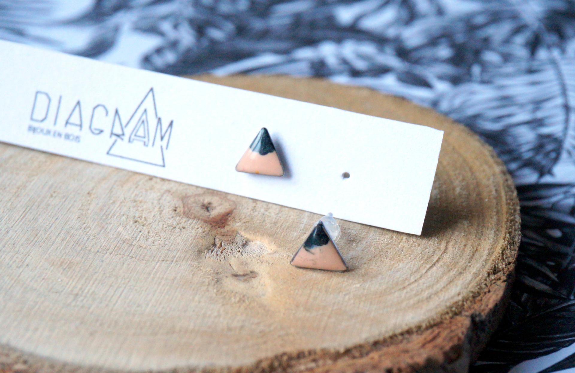 Bo mini triangle beige anthracite paillete 1