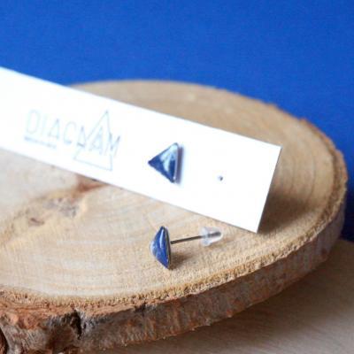 Bo mini triangle bleu blanc 1