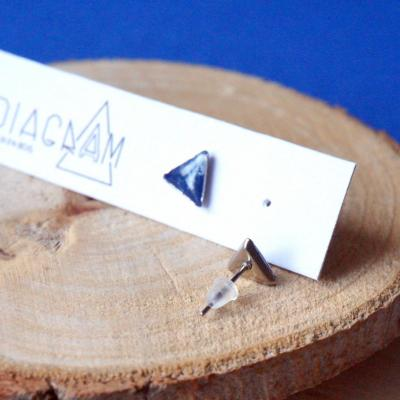 Bo mini triangle bleu blanc 2