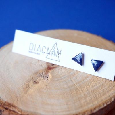 Bo mini triangle bleu blanc 4