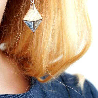 Bo mini losange gris bleu