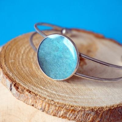 Bracelet bleu nacre