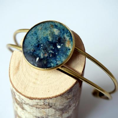 Bracelet bronze motif galaxie zoom