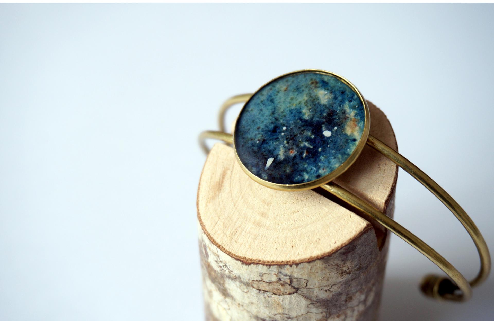 Bracelet bronze motif galaxie