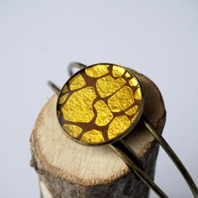 Bracelet marron ta che or