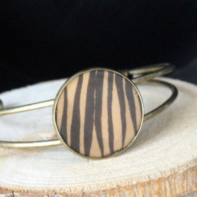 Bracelet ocre noir
