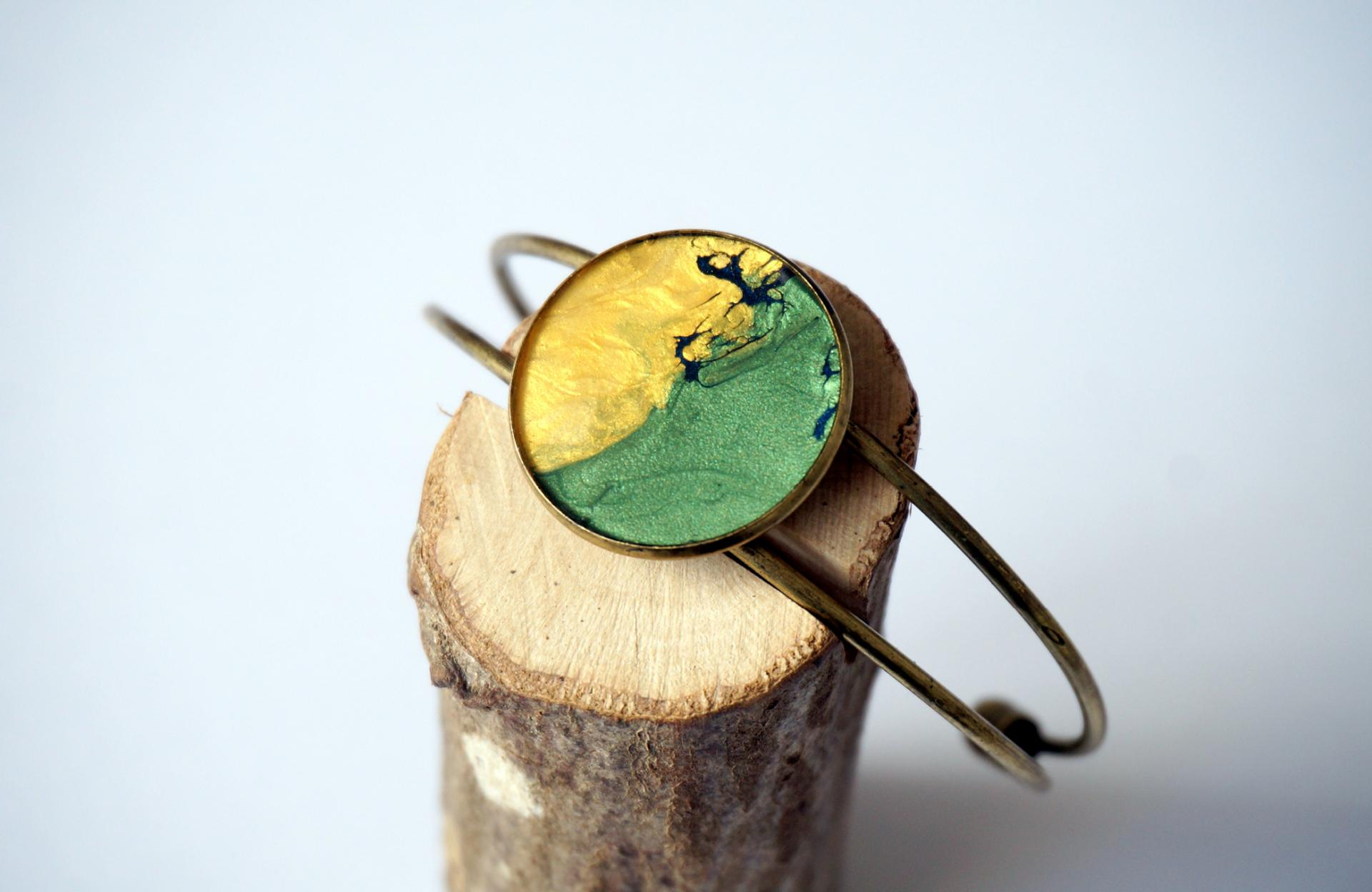 Bracelet vert jaune blau