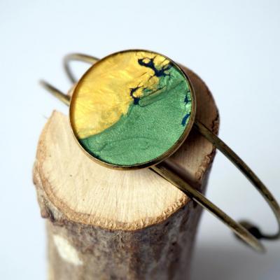 Bracelet vert jaune bleu zoom