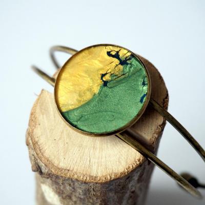 Bracelet vert jaune bleu