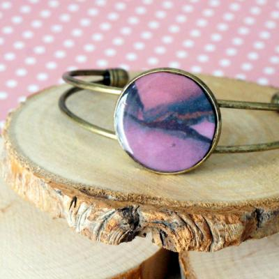 Bracelet violet rose 1