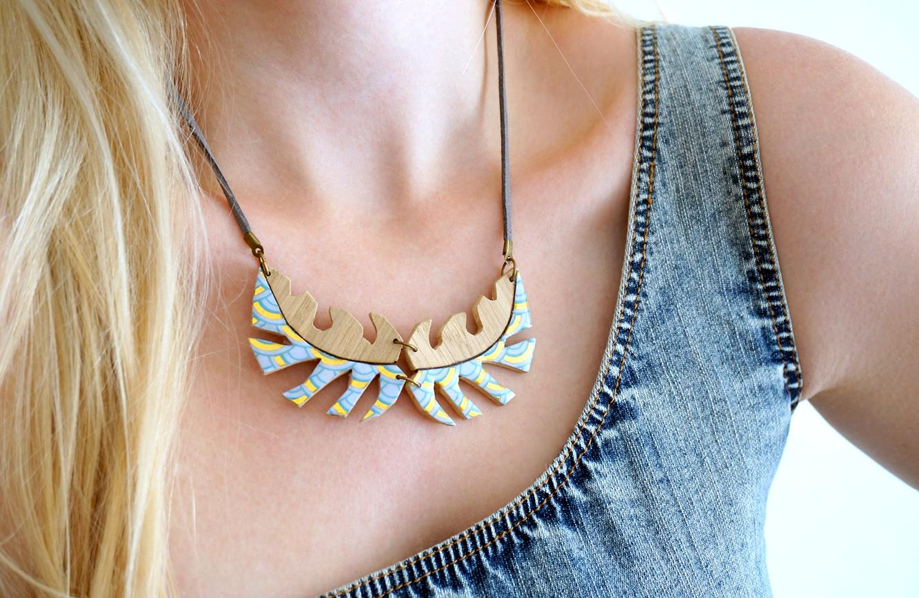 Collier tropical turquoise