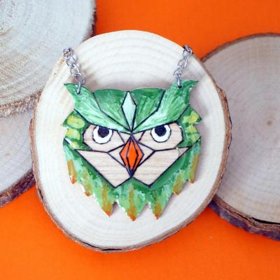 Sautoir hibou tropical