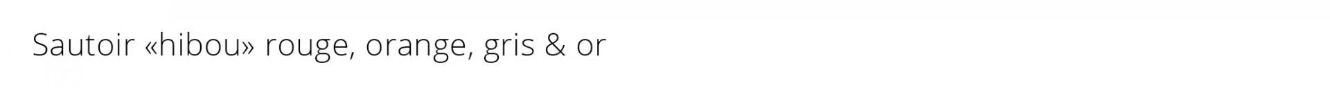 Titre sautoir hibou rouge orange
