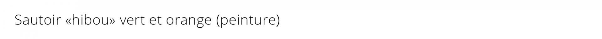 Titre sautoir hibou vert orange