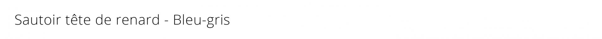Titre sautoir renard bleu gris